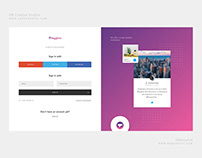 Login and Sign up page