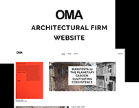 OMA - Architectural Firm Website Redesign