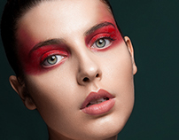 Red make Up Beauty