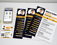 cv and business card template