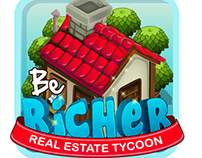 Be Richer real estate game logo options