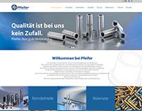 Webdesign for Pfeifer Verbindungselemente GmbH