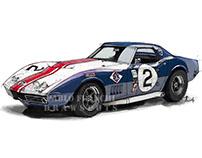 Corvette Race Car. Custom works.