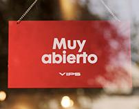 """""""Muy Abierto"""" reposicionamiento VIPS"""
