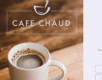 Landing page mock up for fictional coffee shop