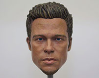 1/6 Brad Pitt Head Sculpt Painting