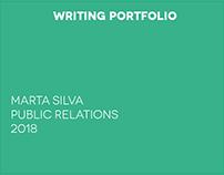 Writing Portfolio Marta Silva