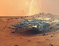 3D Spaceship on Mars