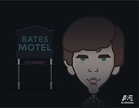 Bates Motel | characters | Illustration - ilustración