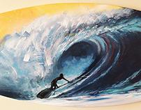 SUP Pipe 170x50cm - Acrilic on Canvas