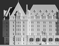 3d - Empress Hotel 3d images for building wrap