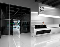 Concept showroom for one of company Rostec corporation