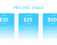UI Pricing Table PSD Drag and Drop