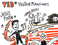 TEDxYouth@Miraflores 2016: Ilustración en vivo