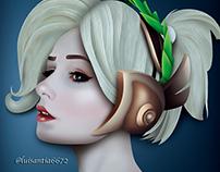 Illustion for cosplay Mercytime de Christina Volkova