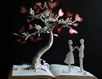 The Tree of Love - Book Sculpture