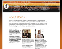 Aldens Restaurant website