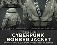 Cyberpunk Bomber Jacket - 3D Fashion Design Course