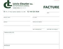 Facture | Lévis Cloutier entrepreneur général