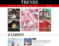 Trendz Magazine Web UI