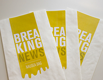 Breaking News Nausea Bags