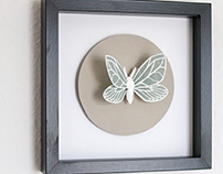 Paper Moths and Butterflies faux Taxidermy