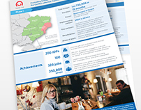 UNDP in Ukraine project report infographic:
