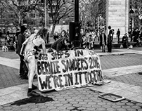 Sanders Campaign and Protest Art in Washington Sqr.