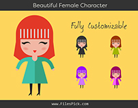 Beautiful Female Character Vector
