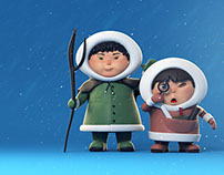 Персонажи к анимационному сериалу Эскимоска