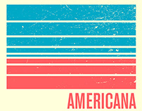 Americana exhibition graphics for The Soap Factory