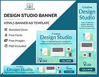 Design Studio Banner- HTML5 Banner Ad Templates