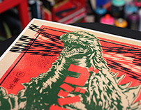 GOJIRA Vintage Poster / Japanese Toy Packaging Variant