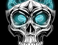 Digital mind skull design