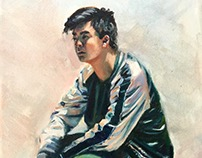 portraits of friends in oil
