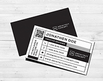 Modern studio business card