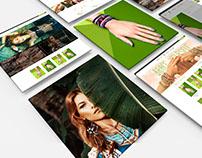 eCommerce Jewelry Shop Template Mockup Design