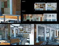 Interior design project of Italian cuisine restaurant