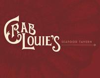 Crab Louie's Menu Design