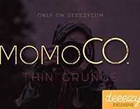FREE Font - Momoco Thin Grunge