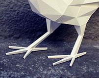 Papercraft raven