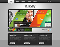 Website UI - Website Template for a Studio