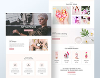 Beauty Clinic Home / Landing Page Design