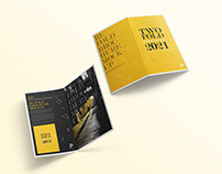 Free Two Fold Brochure Mockup