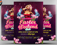Sexy Easter Weekend Bash Flyer Template
