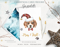 Christmas Dog Card FREEBIE