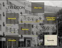 TREUCON Real Estate   website redesign