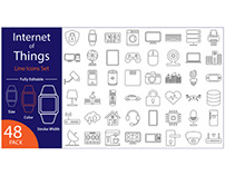 Internet of Things Icon Sets and Background Images