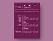 Helen Aldine - Resume Template