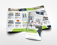 Furniture Products Catalog Tri-Fold Brochure Template